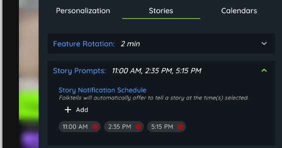 graphic of story schedule